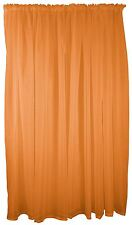 "ORANGE VOILE ROD POCKET CURTAIN DRAPE 59X48"" 150X122CM"