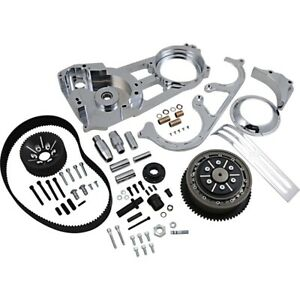 "Belt Drives LTD EVO-220-C Chrome 2"" Open Belt Drive Kit Harley FL Touring 90-06"
