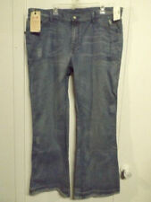 Classic Boot Cut Distressed Wash 33 Inseam Jeans for Women