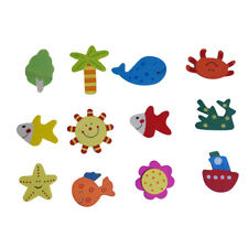 12x Legno del frigorifero magneti Sticker bambino magnetico Giocattoli Art E0D2