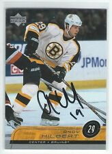 Andy Hilbert Signed 2002/03 Upper Deck Card #15