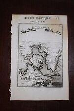 ✒ 1683 MANESSON MALLET carte Groenland GREENLAND