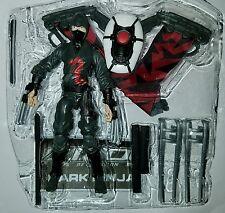 """GI Joe DARK NINJA 3.75"""" Figure Retaliation Red Aerial Assault Ninja Leader"""
