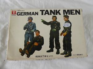 VINTAGE/RARE BANDAI 8277: GERMAN TANK MEN (1:48 SCALE) MADE IN JAPAN 197O'S -NEW