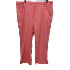 New Grey's Academy by Barco Plus 3X Scrub Pants 5 Pocket Drawstring Neon Pink