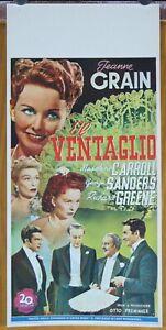 locandina film THE FAN - IL VENTAGLIO Jeanne Crain George Sanders Otto Preminger