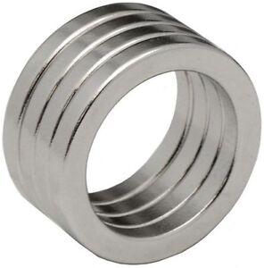 4 Neodymium Magnets 1 x 3/4 x 1/8 inch Ring N48
