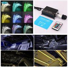 2M 17 Ccolor RGBW LED Car Home Ceiling Light Fiber Optic Star Kit +Controller