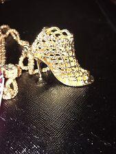 Betsey Johnson Necklace Heel Gold High Heel Shoe