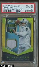 2014 Panini Select Rookie Jerseys Gold Derek Carr PSA 10 POP 1