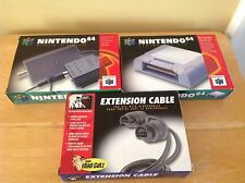 Nintendo 64 - RF Switch/Modulator, Controller Pak & Extension Cables w/ Boxes 28