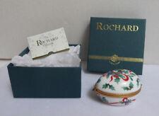 Rochard Limoges Original Christmas Egg - French Limoges Pill Box + Box & Paper