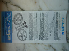 instruction service mode d'emloi  ANCIEN SHIMANO ADAMAS AX-T VINTAGE CRANKSET