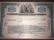 Royal Dutch Petroleum original stock certificate g8 oil/energy collectible