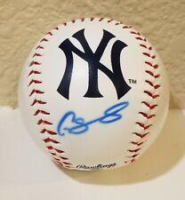 Gary Sanchez Hand Signed Autograph Baseball New York Yankees