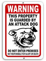 "BEWARE OF DOG Sign Attack Dog on Duty Guard Dog 8""x 12"" Aluminum Metal Warning"