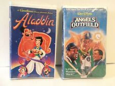 SEALED DISNEY GOODTIMES CLASSIC ALADDIN (1993) AND ANGELS IN THE OUTFIELD (1995)