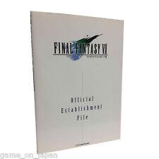 Final Fantasy VII FF 7 Official Establishment Files Square Enix Import Japanese