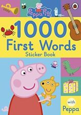 Peppa Pig: 1000 First Words Sticker Book by  New Paperback Book