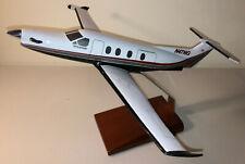 Pilatus PC-12 Pinnacle Wood Desk Display Model 1/40 Airplane