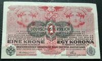 AUSTRIA  1  Krone Banknote Wien 1916
