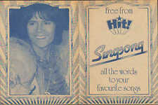 Cliff Richard On The Back Cover of Singsong Booklet