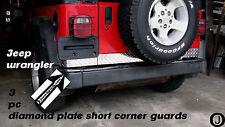 """Jeep YJ Wrangler 3 1/2"""" tall Aluminum Diamond Plate 3 pcs Short Corners set"""