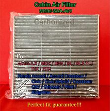 C35519 CHARCOAL CARBONIZED CABIN AIR FILTER ACCORD CIVIC CRV MDX RDX RL TL TSX