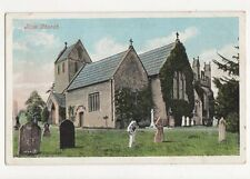 Ilam Church Vintage Postcard 255a