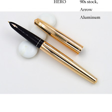 Wing Sung 812 Aluminum Gold color Arrow signs Fountain Pen Made in 90s