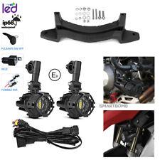 FARETTI MOTO LED E9 + GRIGLIA + KIT CABLAGGIO + STAFFA BMW LC1200GS R 1250 GS LC