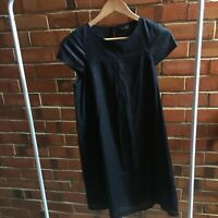 THEORY Little Black Dress Size 6 100% Cotton Babydoll Witch Grunge Simple Cute