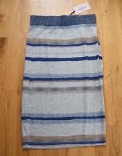 NWT Juicy Couture stripe metallic-rib waist skirt (XS) gray blue stripe SEXY