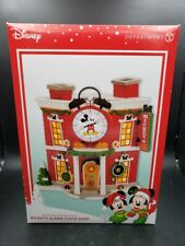 Department 56 Disney Mickey's Merry Christmas Village Alarm Clock Shop New
