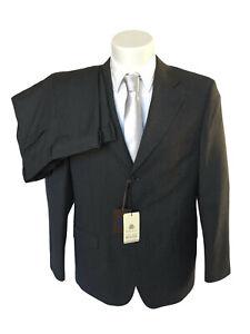 Abito uomo sartoriale TUXEDO P/E in pura lana vergine, DROP 4, grigio rigato.