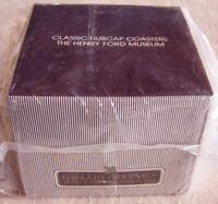 "Vintage 1981 Avon Gallery Originals ""CLASSIC HUBCAP COASTERS"" Set - NEW, Sealed!"