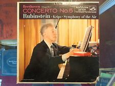 RCA LSC-2123 Shaded Dog-Rubenstein-Beethoven No.4 LP-CLEAN!