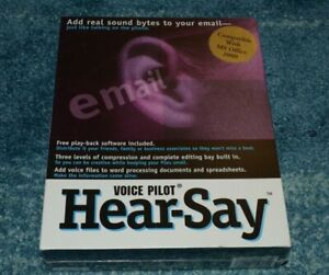Voice Pilot Hear-Say~MS Office 2000 Compatible~Voice Email Software~SEALED/NEW