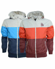 Crosshatch Waist Length Nylon Hooded Coats & Jackets for Men