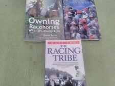 3 libri di corse di cavalli di possedere cavalli da corsa, la società RACING + La tribù Racing