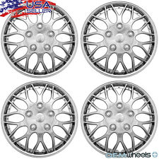 "4 NEW OEM CHROME 15"" HUBCAPS FITS HYUNDAI SUV CAR STOCK CENTER WHEEL COVERS SET"
