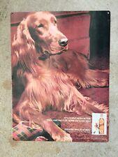 Irish Setter Ginger Dog Johnnie Walker Red Label Blended Scotch Whiskey Sign