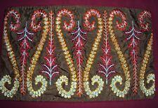 2 orientalische Dekokissen Kissenhüllen 30x50 rot  braun Reißverschluß Stickerei