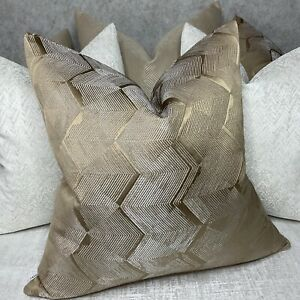 Cushion Pillow Cover & Harlequin TANABE Fabric Gold Brass Geometric Glamour Home