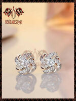 1Ct Round-Cut D/VVS1 Diamond Solitaire Stud Earrings 14k Real Rose Gold