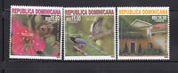 Dominican Republic 2008 China Friendship Bird Flower Flora Fauna Sc 1442-44 3v