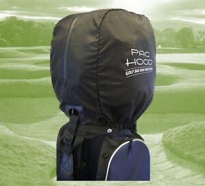 Golf Bag Pac Hood Black Universal Rain Cover Hood Protection, Elasticated