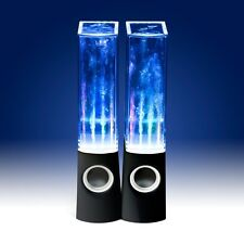 CASSE DANCING WATER ALTOPARLANTI x 2 LED Musica Luce JET per iPod iPhone iPad PC NERO