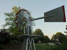 Windmill Weather Vane (American Farm) Miniature 8 Ft.Steel..54.. 48A Silver/Red