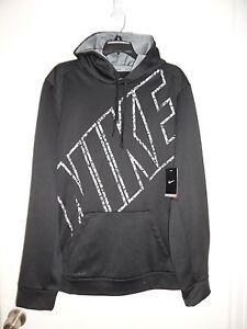 NWT Men's Hoodie Block NIKE KO THERMA-FIT Size Large 688303 Black Gray Camo